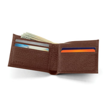 American Bison Thinfold Leather Wallet - BROWN image number 1