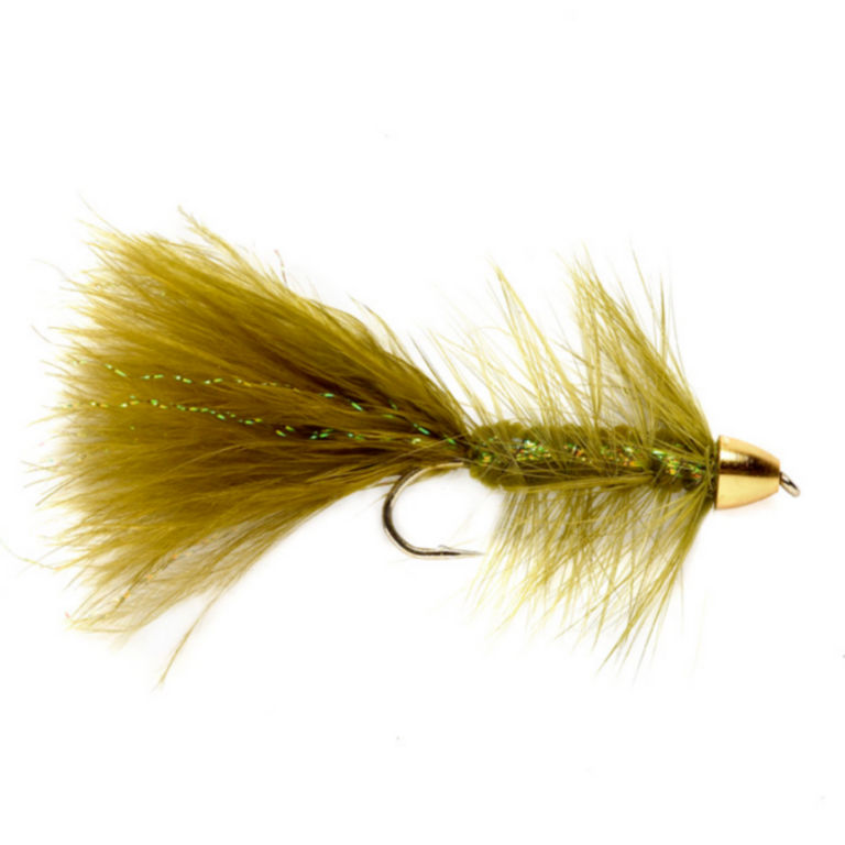 Brass Cone Head Woolly Bugger -  image number 0