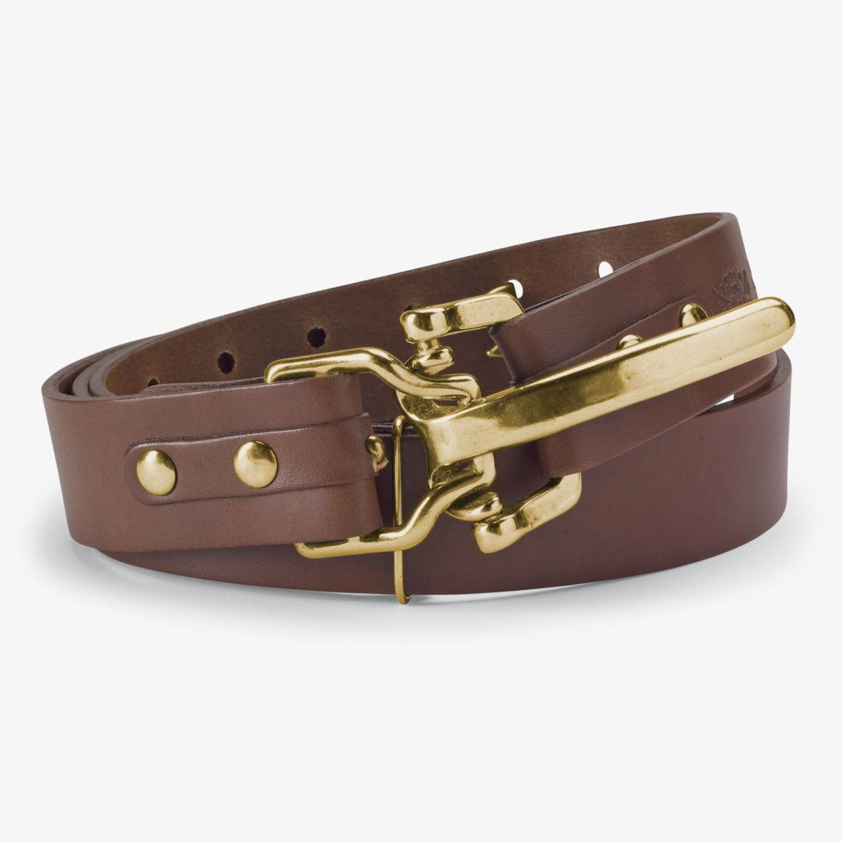 Bridle Leather Cinch Belt - BRASSimage number 0