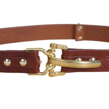 Bridle Leather Cinch Belt - BRASS image number 4