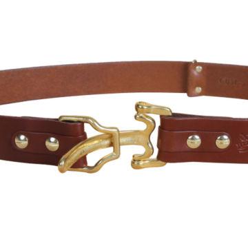 Bridle Leather Cinch Belt - BRASS image number 5