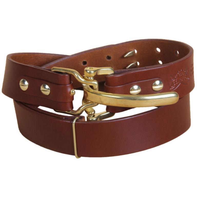 Bridle Leather Cinch Belt - BRASS image number 1