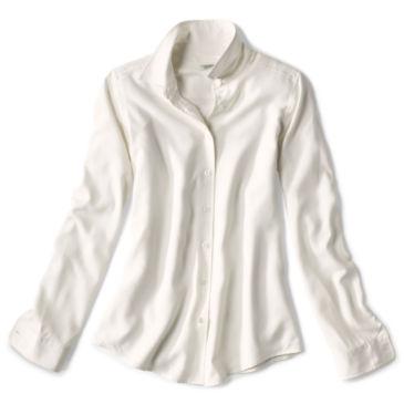 Long-Sleeved Everyday Silk Shirt - PEARL