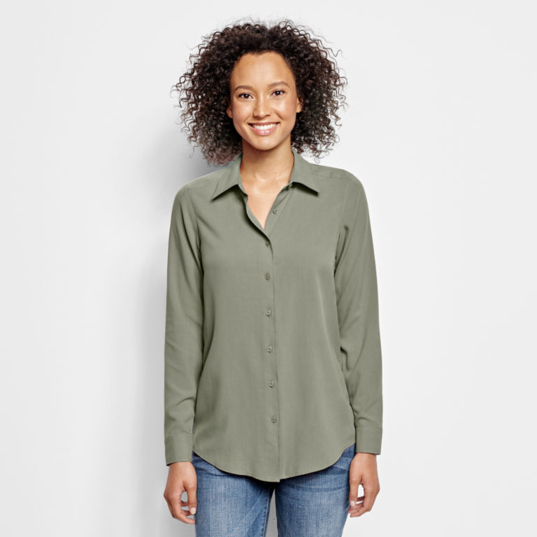 Long-Sleeved Everyday Silk Shirt -  image number 0