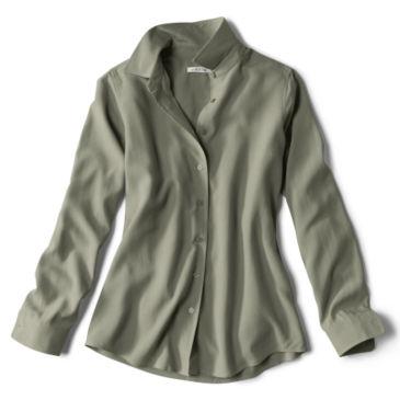 Long-Sleeved Everyday Silk Shirt - JUNIPER