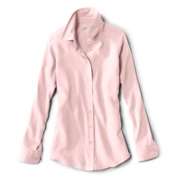 Long-Sleeved Everyday Silk Shirt - PINK BLUSH