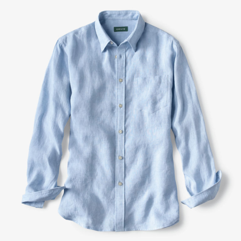 Pure Linen Long-Sleeved Shirt -  image number 0