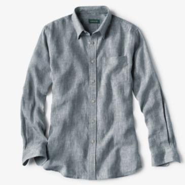 Long-Sleeved Pure Linen Shirt -