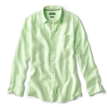 Long-Sleeved Pure Linen Shirt -  image number 0