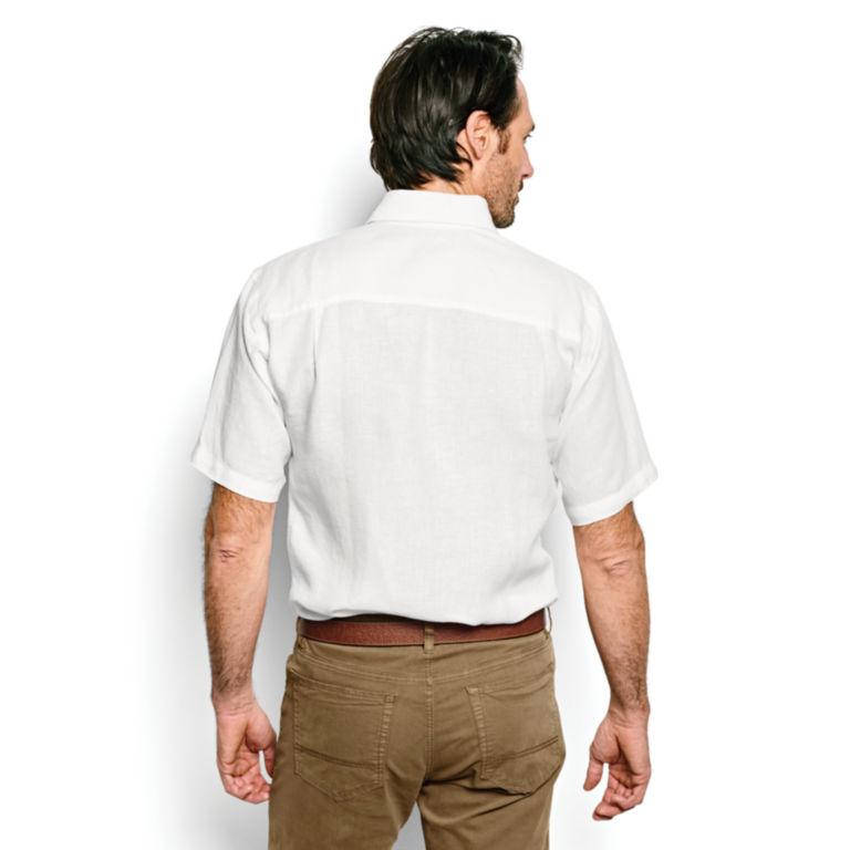 Pure Linen Short-Sleeved Shirt -  image number 3
