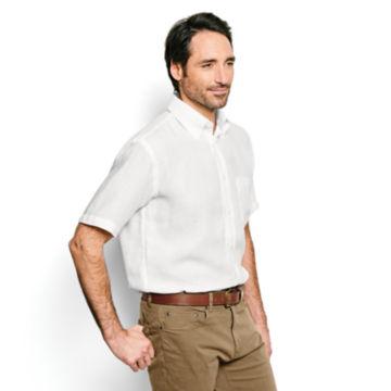 Pure Linen Short-Sleeved Shirt -  image number 2