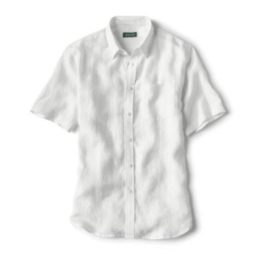 Pure Linen Short-Sleeved Shirt -