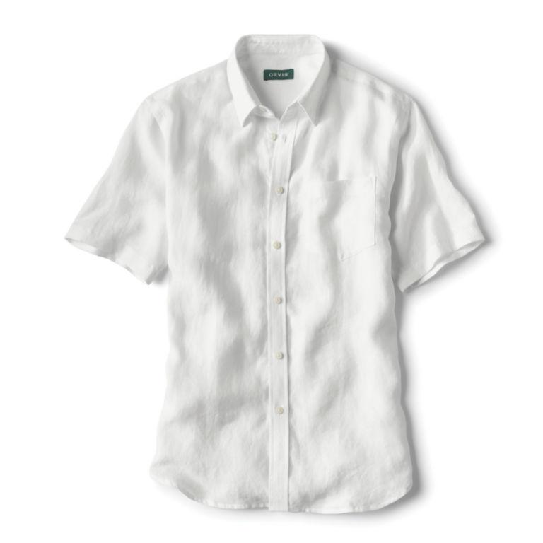 Pure Linen Short-Sleeved Shirt -  image number 0