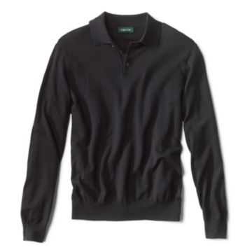 Cotton/Silk/Cashmere Long-Sleeved Polo -  image number 0