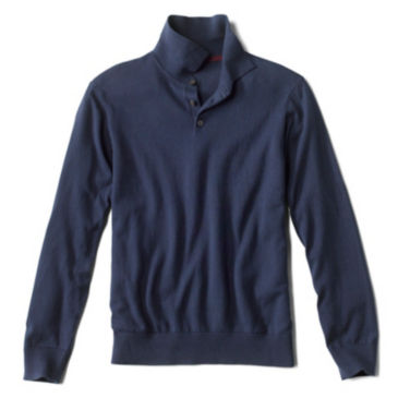 Cotton/Silk/Cashmere Long-Sleeved Polo -