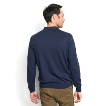 Cotton/Silk/Cashmere Long-Sleeved Polo -  image number 3