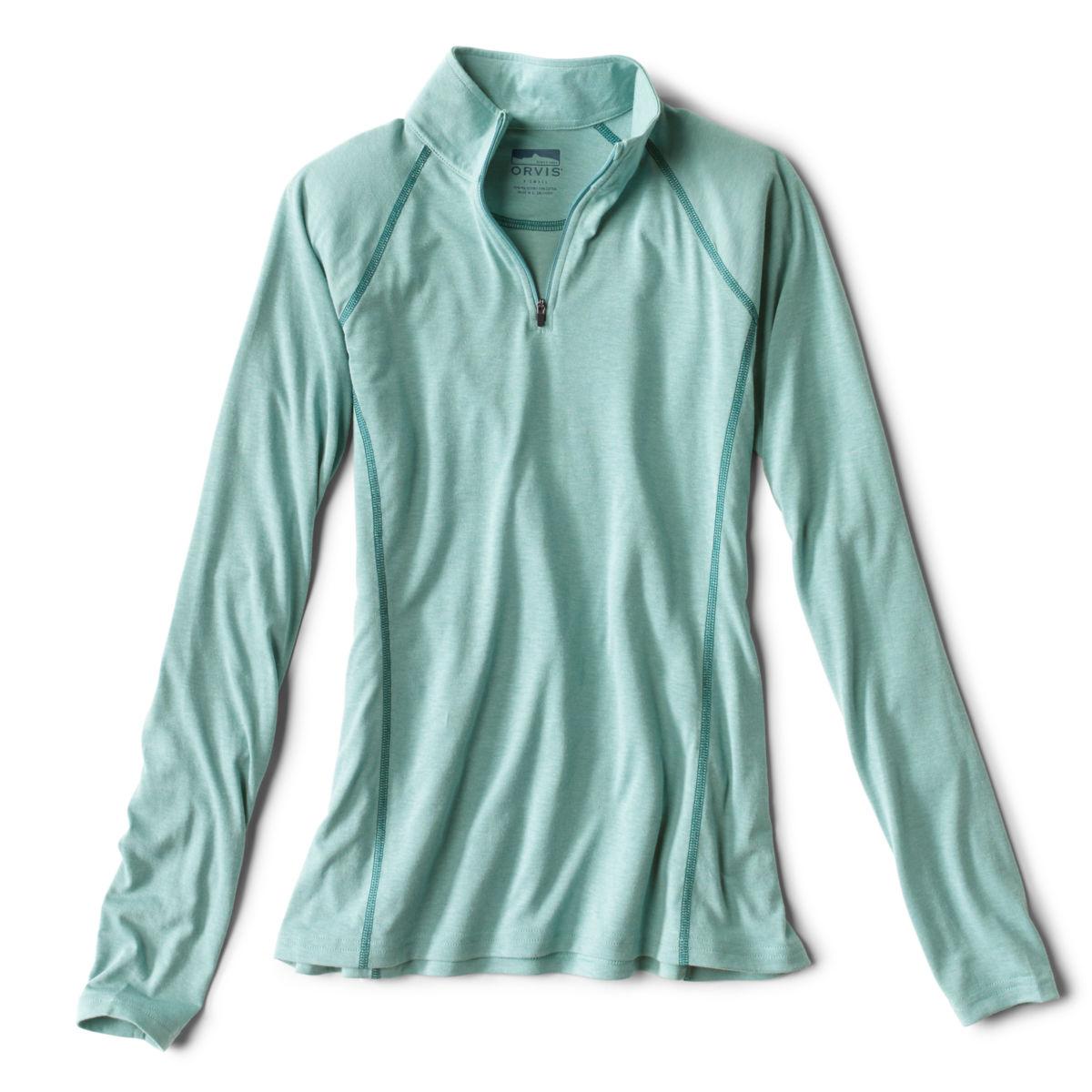 Women's drirelease® Long-Sleeved Quarter-Zip Tee - TROPICAL BLUEimage number 0