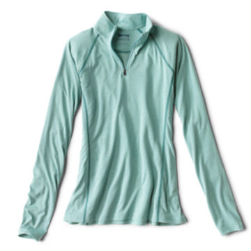 Women's drirelease® Long-Sleeved Quarter-Zip Tee - TROPICAL BLUE image number 0