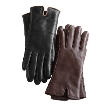 Premium Leather Shearling-Lined Gloves -  image number 0