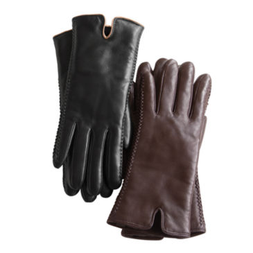 Premium Leather Shearling-Lined Gloves -