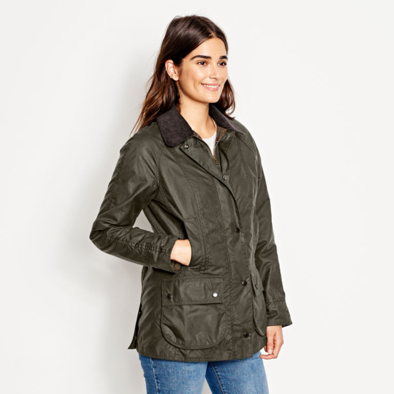 Barbour® Women's Classic Beadnell Jacket - OLIVE image number 2