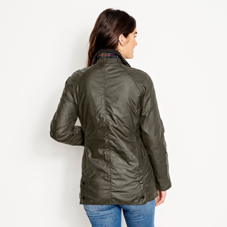 Barbour® Women's Classic Beadnell Jacket - OLIVE image number 3