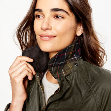 Barbour® Women's Classic Beadnell Jacket - OLIVE image number 4
