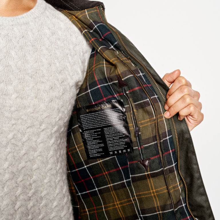 Barbour® Women's Classic Beadnell Jacket - OLIVE image number 5