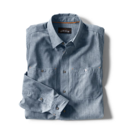 A folded button-up shirt