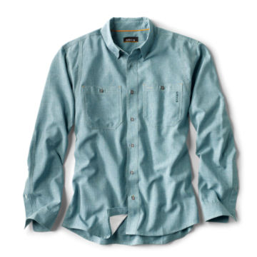 Tech Chambray Work Shirt - Regular - TROPICAL BLUE image number 0