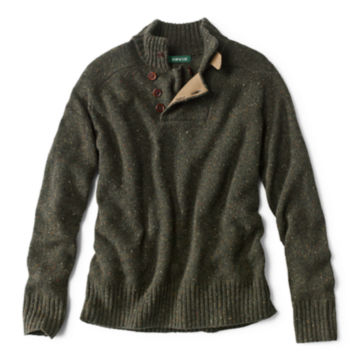 Merino/Cashmere Donegal Sweater - OLIVEimage number 0