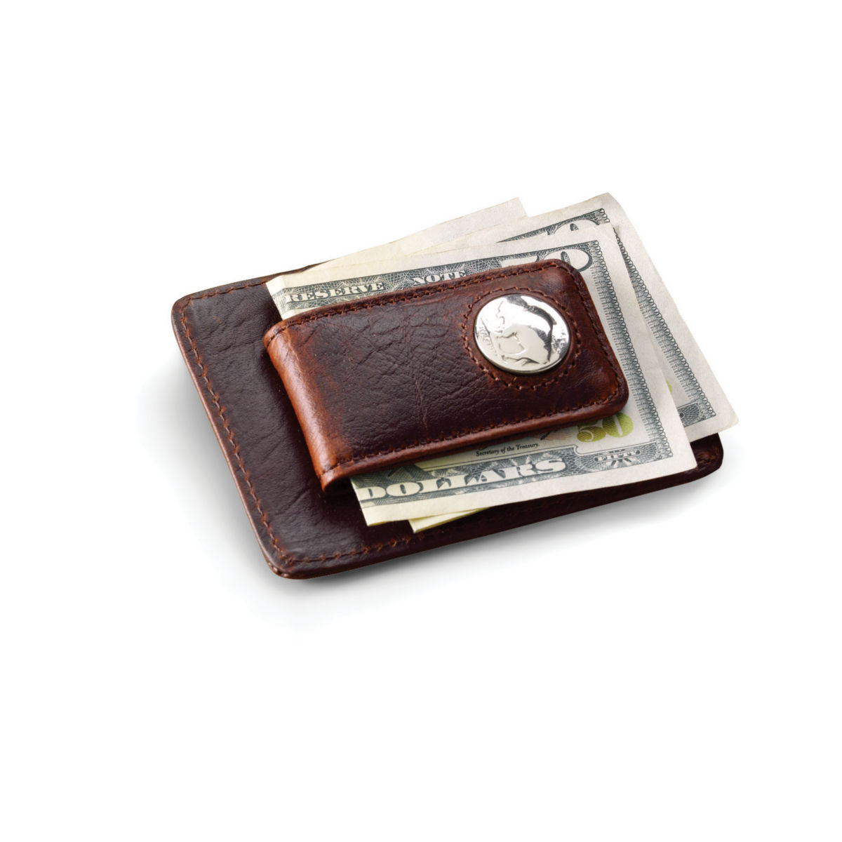 Bison Buffalo-Nickel Money Clip - BROWNimage number 0