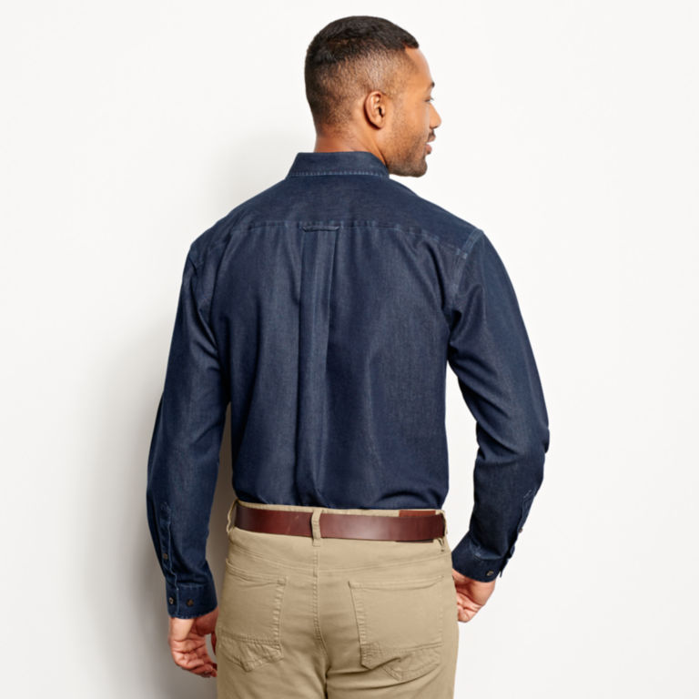 Wrinkle-Free Pure Cotton Denim Shirt -  image number 3