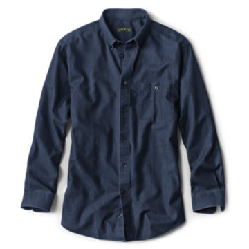 Wrinkle-Free Pure Cotton Denim Shirt - image number 0