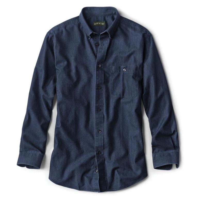 Wrinkle-Free Pure Cotton Denim Shirt -  image number 0