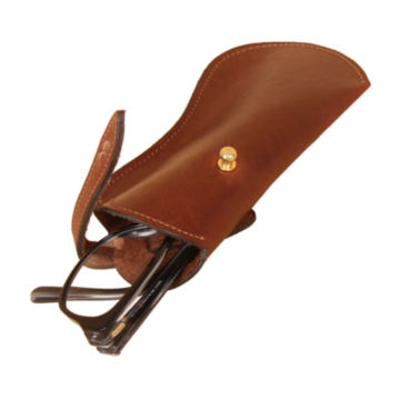 Leather Eyeglass Case - BROWN image number 1