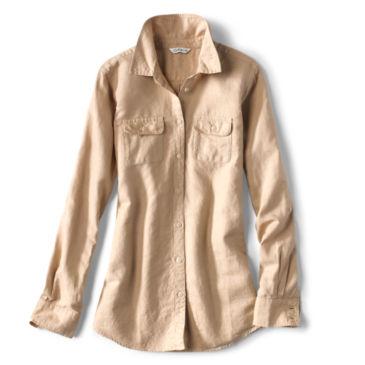 Linen/Cotton Garment-Dyed Camp Shirt -