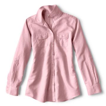 Linen/Cotton Garment-Dyed Camp Shirt -  image number 5