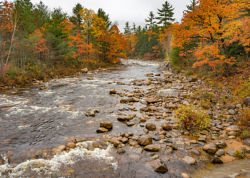 New Hampshire river in Fall