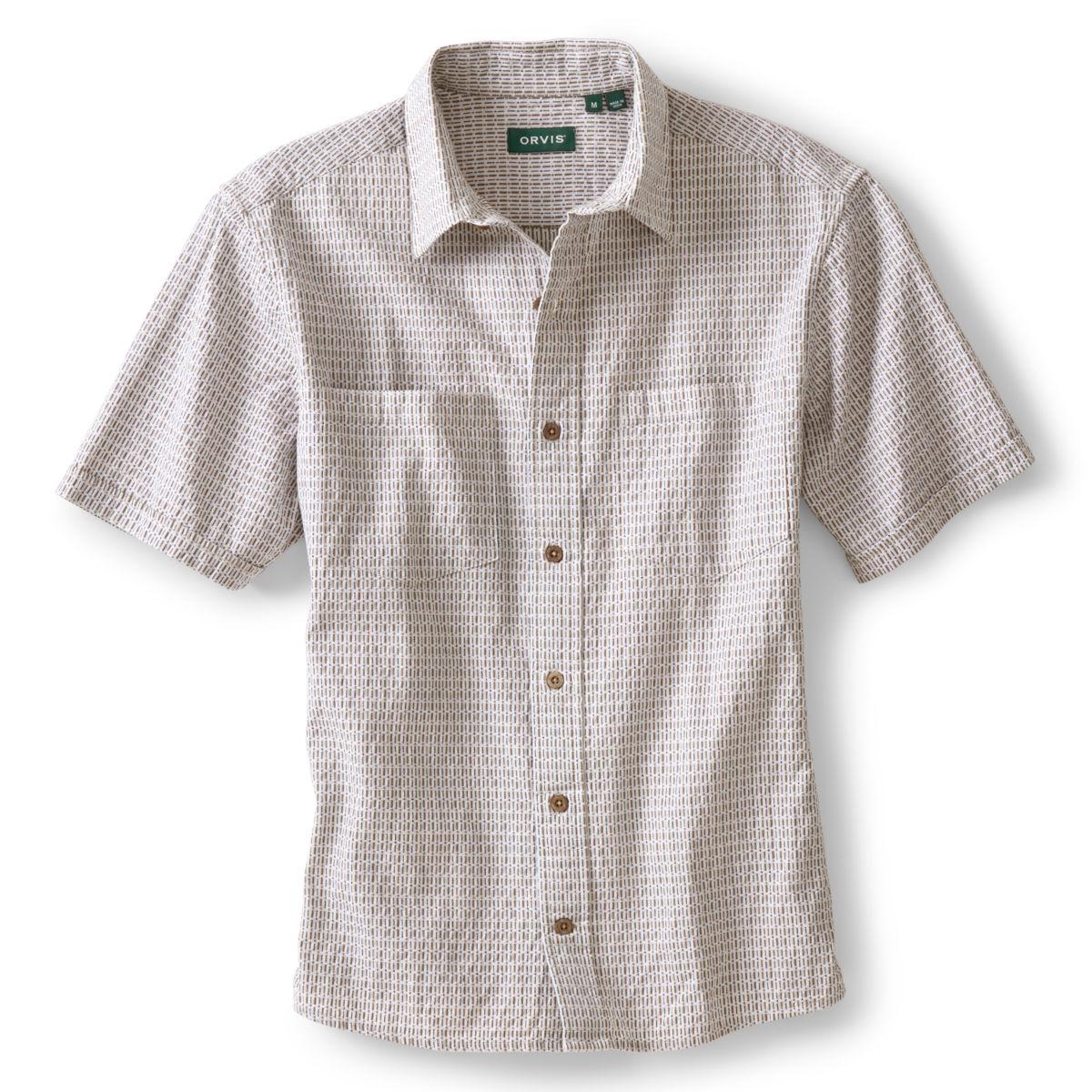 Jaspé Dobby Short-Sleeved Shirt - NATURALimage number 0