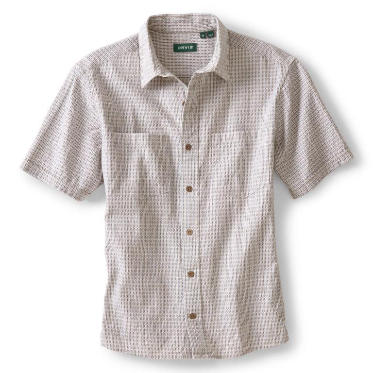Jaspé Dobby Short-Sleeved Shirt - NATURAL image number 0