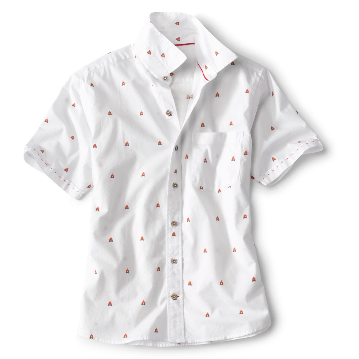 Campfire Print Short-Sleeved Shirt - image number 0