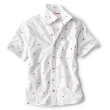 Campfire Print Short-Sleeved Shirt -
