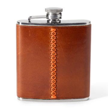 Blaze Trim Leather Flask -  image number 0
