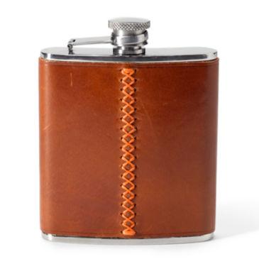 Blaze Trim Leather Flask -
