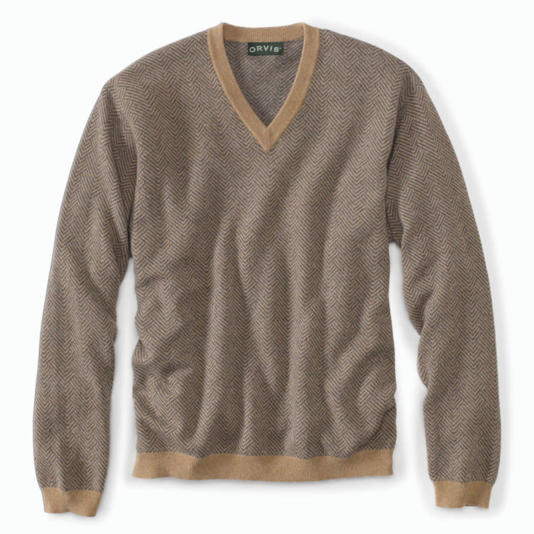 Broken-Herringbone Cashmere Sweater -  image number 0