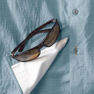 Double Spade Short-Sleeved Camp Shirt - BLUE image number 2
