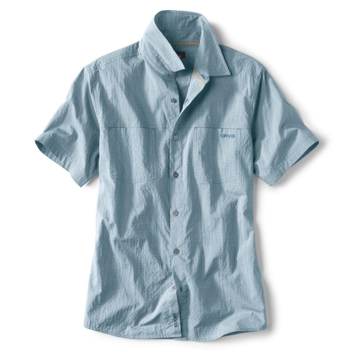 Double Spade Short-Sleeved Camp Shirt - BLUEimage number 0