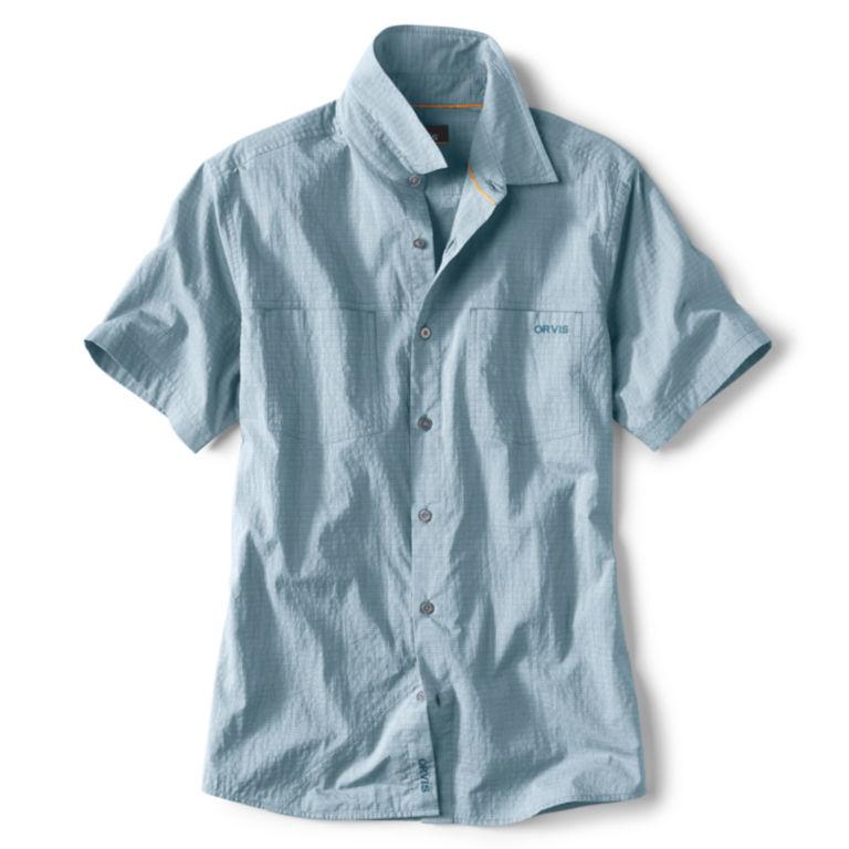 Double Spade Short-Sleeved Camp Shirt - BLUE image number 0