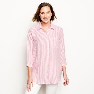 Lightweight Linen Striped Big Shirt -